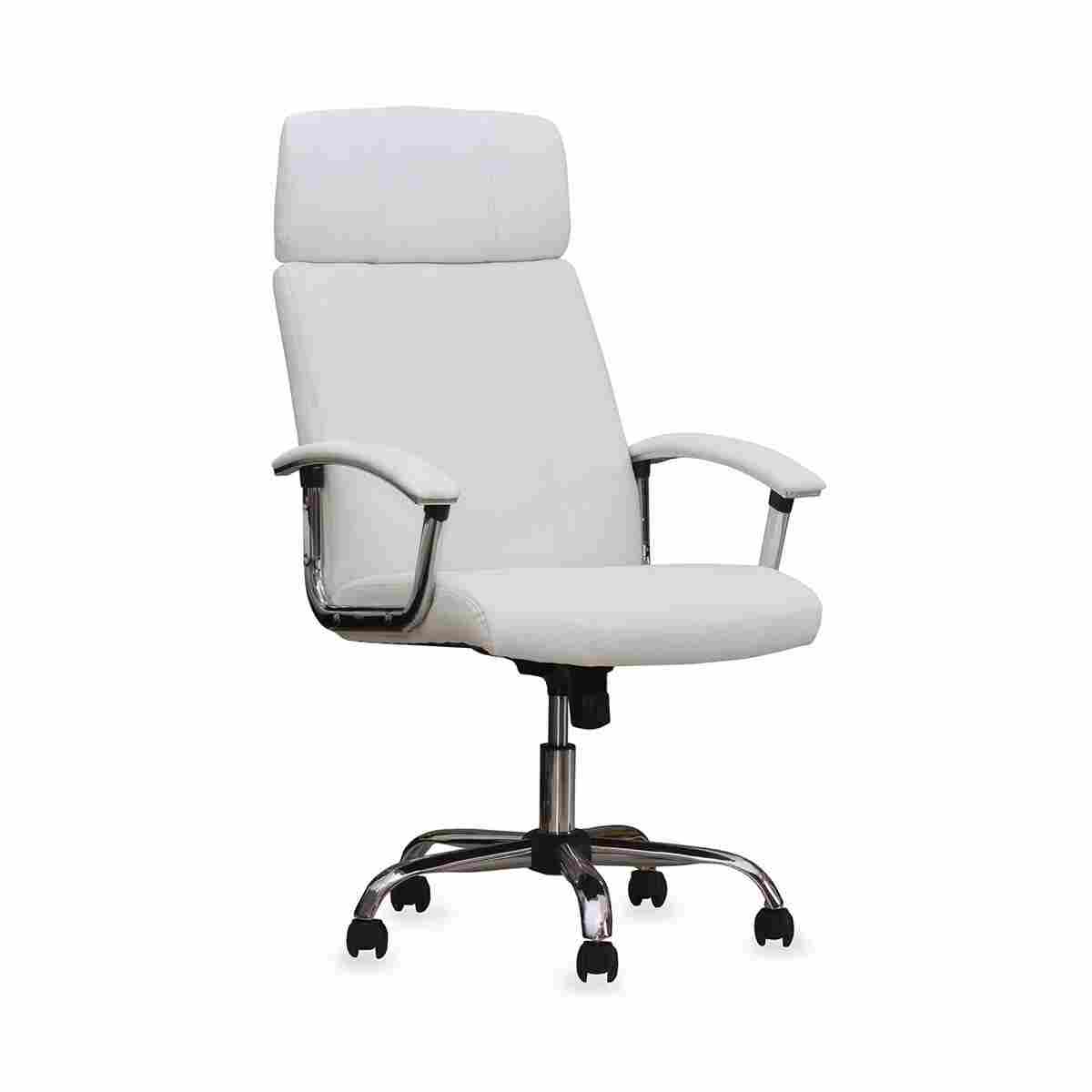 White Leather Office Chair Welcome, White Leather Computer Chairs